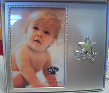 SALE 4x6 Baby Boy Girl Engravable Photo Frame that say Baby has Light Green Star