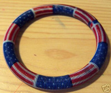 Patriotic 4th of July Red, White, & Blue Wire Bracelet