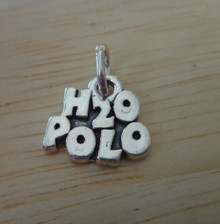 12x12mm says H2O Polo Water Polo Sterling Silver Charm
