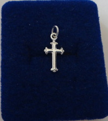 9x16mm Trinity Ends on a Tiny Cross Sterling Silver Charm!