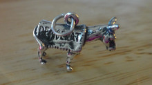 3D 19x15mm says Democrat on Donkey Sterling Silver Charm