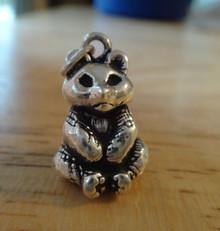 12x17mm 3D 7 gram Panda Bear Sterling Silver Charm