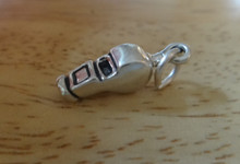 Medium sized Sport Coach Referee Whistle Sterling Silver Charm