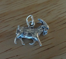 3D Goat Sterling Silver Charm