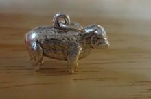 19x15 3D Heavy Solid 5 gram Sheep Lamb Sterling Silver Charm