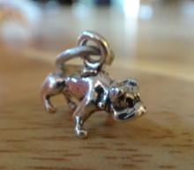 13x11mm 3D Bulldog Dog Sterling Silver Charm
