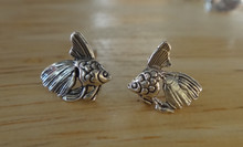 10x10mm Angelfish Betta Fish Sterling Silver Studs Earrings