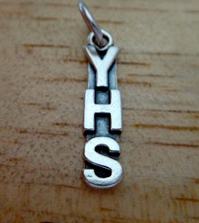 YHS ie. for Yates High School etc Sterling Silver Charm