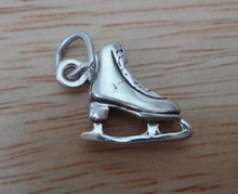 3D 13x12mm Small Ice Skate Sterling Silver Charm
