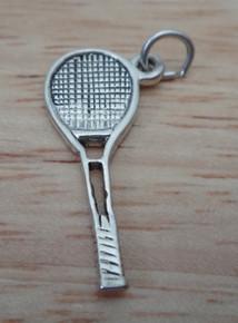 24x10mm Tennis Racket Sterling Silver Charm