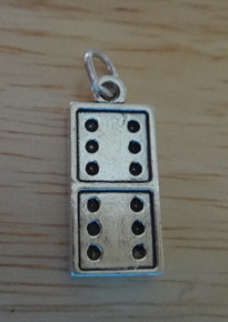 Domino Sterling Silver Charm