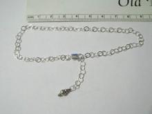 "9.75"" Adjustable Sterling Silver 4 mm Rolo Chain Ankle Bracelet"