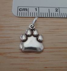 Small Paw Print Sterling Silver Charm