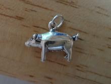 Large Pig Sow Hog Farm Animal Sterling Silver Charm