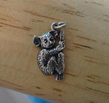 Koala Bear in a Tree Sterling Silver Charm