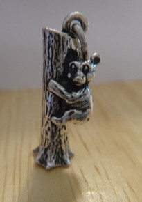 Koala, Grizzly Brown or Black Bear in a tree Sterling Silver Charm