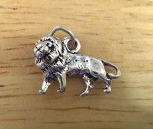 3D 18x13mm Lion Sterling Silver Charm