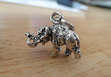 17x13mm 3D Detailed Elephant Sterling Silver Charm