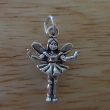 3D 13x18mm Fairy Tooth Fairy Sterling Silver Charm!