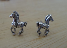 Tiny 10x5mm Colt Pony Horse Studs Posts Sterling Silver Earrings!