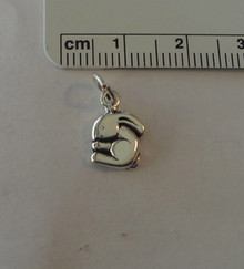 8x13mm Tiny Flop Earred Rabbit Bunny Sterling Silver Charm
