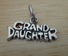 20x10mm says Granddaughter Sterling Silver Charm!