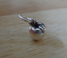 7x10mm Small 3D solid Apple Sterling Silver Charm