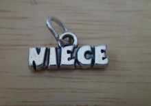 16x7mm says Niece Sterling Silver Charm