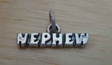 21x7mm says Nephew Sterling Silver Charm