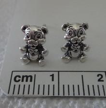 8x10mm Teddy Bear Sterling Silver Stud Earrings
