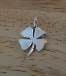 13x20mm Four Leaf Clover St Patrick's Sterling Silver Charm