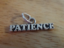 7x22mm says Patience Sterling Silver Charm!