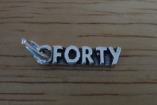 5x19mm Number Forty 40 Birthday Sterling Silver Charm