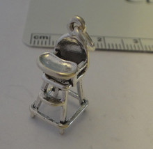 Cute Baby High Chair Sterling Silver Charm