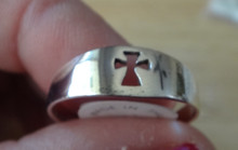 size 3 4 5 6 7 8 9 10 11 or 12 Cut Out Cross Sterling Silver Ring 7 mm wide