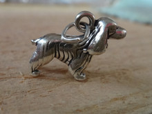15x20mm Cocker Spaniel Dog Sterling Silver Charm