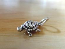 Tiny 6x13mm Box Turtle Tortoise Sterling Silver Charm!