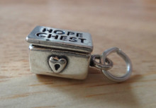 8x15mm Movable Wedding Bride Hope Chest Sterling Silver Charm