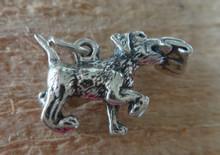 20x15mm 3D 5 gram Lab Labrador Retriever with Newspaper Dog Sterling Silver Charm!