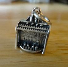 Solid 3 gram Large Musical Instrument Organ Sterling Silver Charm