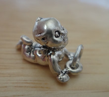 3D 10x17mm Looks like a Cupie Doll Baby Sterling Silver Charm