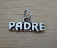 18x8mm says Padre Father in Spanish Sterling Silver Charm!