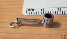 Old Fashion Corn Cob Tobacco Pipe Sterling Silver Charm