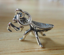 10x16mm Praying Mantis Bug Insect Sterling Silver Charm