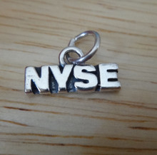 15x8mm NYSE New York Stock Exchange Sterling Silver Charm