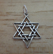 14x19mm Double Star of David Sterling Silver Charm