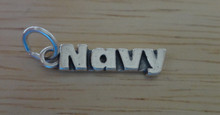 Military says Navy Sterling Silver Charm