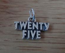 19x12mm Number Twenty Five 25 Birthday Sterling Silver Charm
