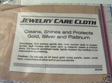 "Small 3.5x14.5"" open Silver, Gold, & Platinum Jewelry Polishing Cloth"