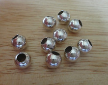 6 mm or 8 mm Round Large Hole Sterling Silver Separator Spacer Beads